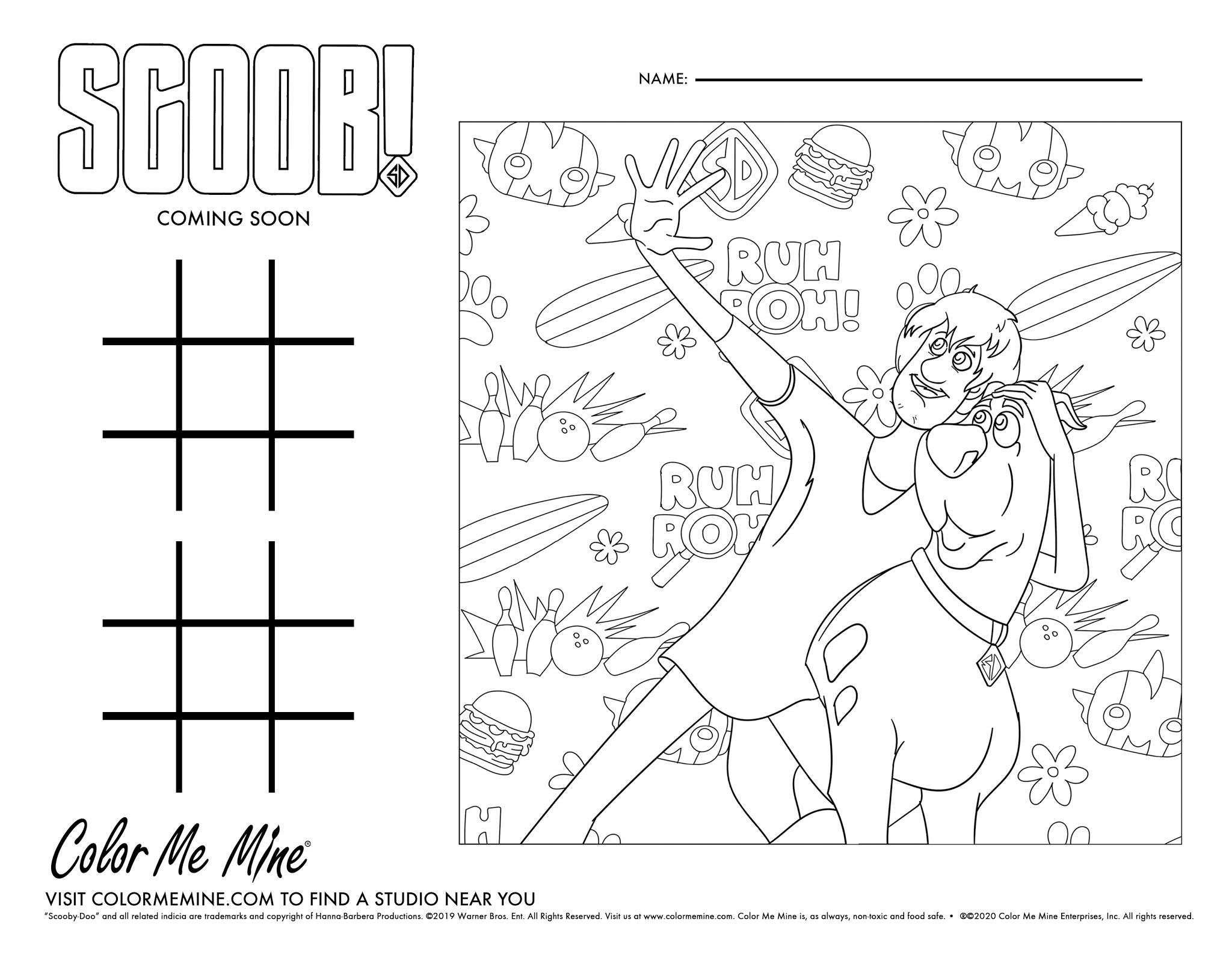 Free Scoob Coloring Sheets Ogden